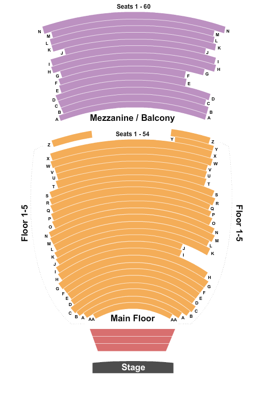 Morrison Center For The Performing Arts seating chart event tickets center