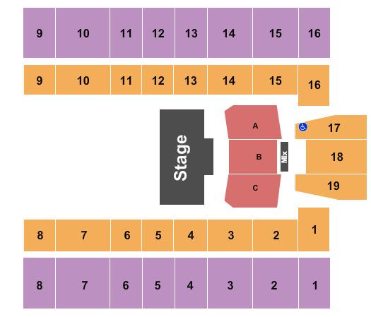 Mountain Health Arena Seating Chart Plan