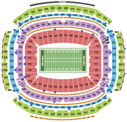 NRG Stadium Football Row seating chart - eventticketscenter.com
