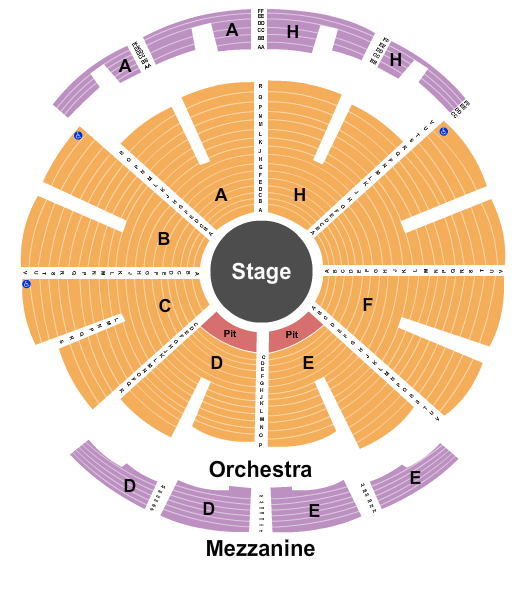 NYCB Theatre at Westbury Floor Plan