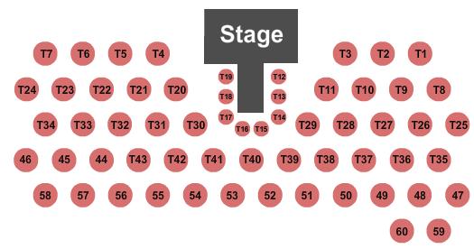 Nampa Civic Center - Banquet Room Seating Chart
