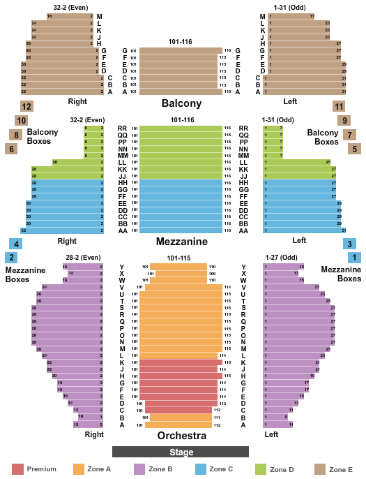 New Amsterdam Theatre seating chart event tickets center