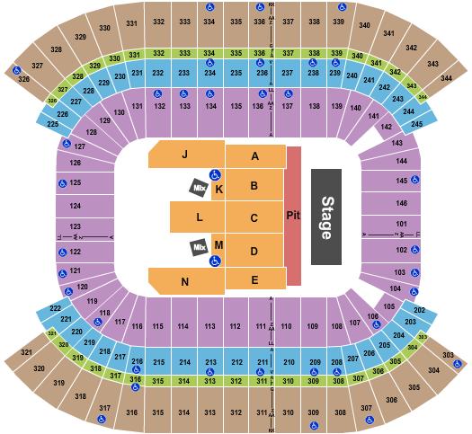 Nissan Stadium - Nashville seating chart event tickets center