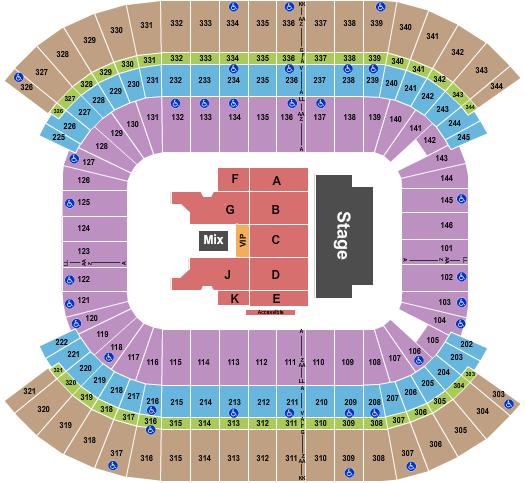 Nissan Stadium - Nashville Floor Plan