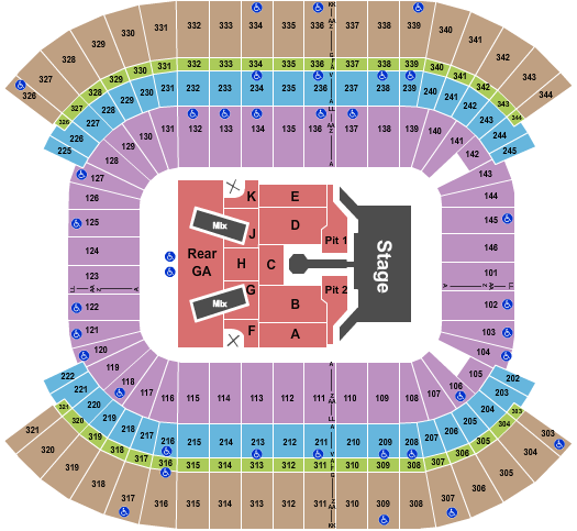 Nissan Stadium - Nashville Floor Plan