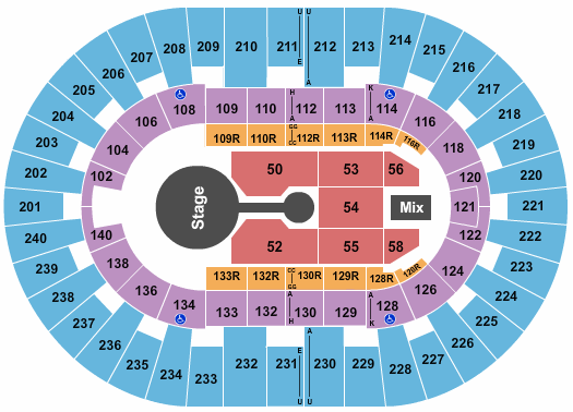North Charleston Coliseum seating chart event tickets center