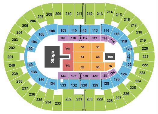 North Charleston Coliseum Floor Plan