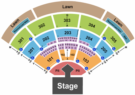 North Island Credit Union Amphitheatre seating chart event tickets center