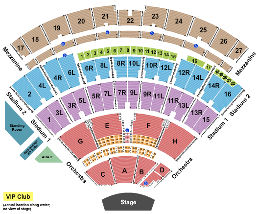 seating chart for Northwell Health at Jones Beach Theater End Stage - eventticketscenter.com