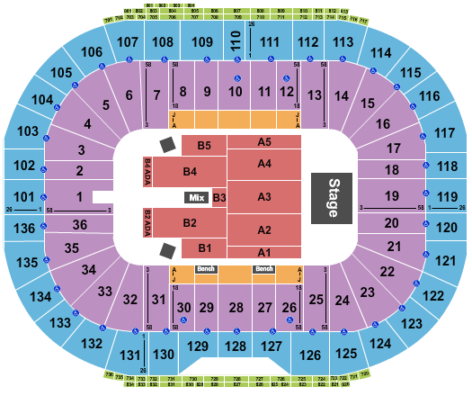 Notre Dame Stadium seating chart event tickets center