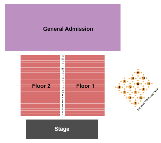 seating chart for Nutty Brown Cafe & Amphitheatre Endstage 3 - eventticketscenter.com