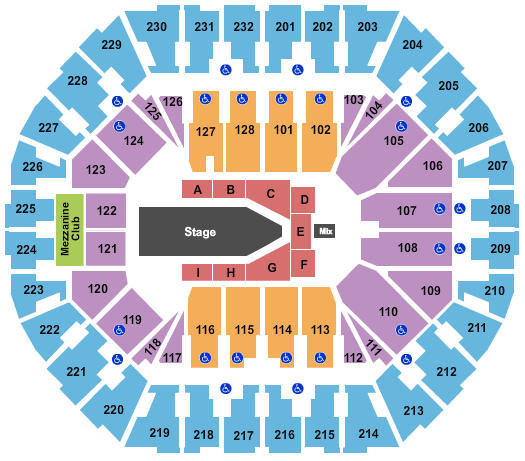Oakland Arena Floor Plan