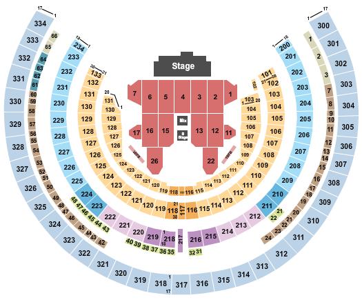 Oakland Coliseum Floor Plan