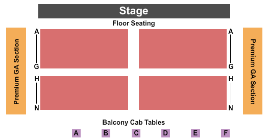 seating chart for Old Forester's Paristown Hall End Stage - eventticketscenter.com