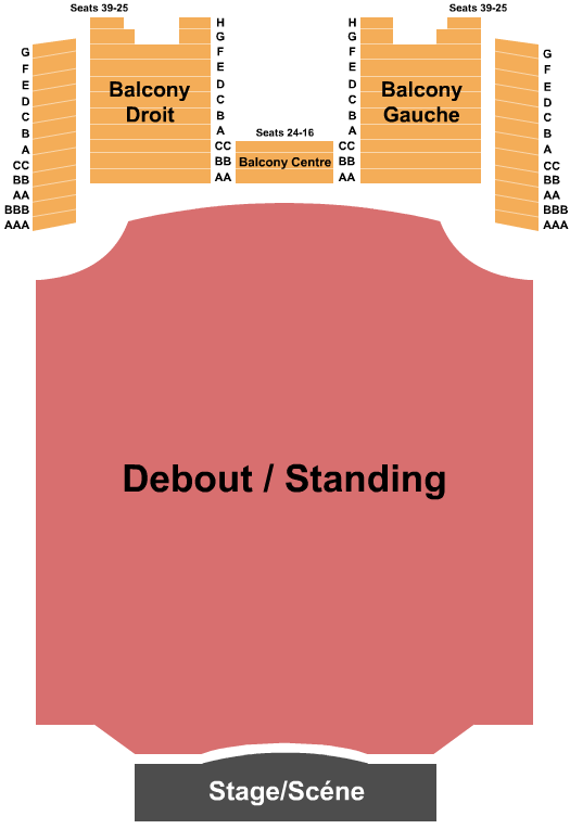 Olympia Theatre - Montreal Floor Plan