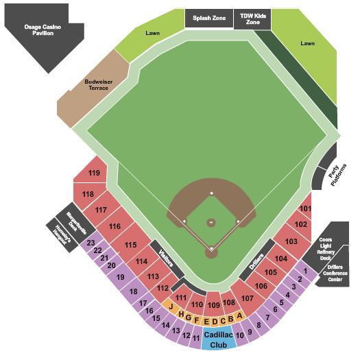 seating chart for ONEOK Field Baseball - eventticketscenter.com