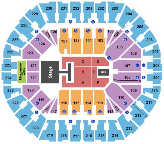 Oakland Arena Floor Plan