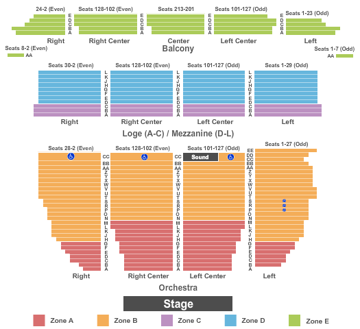 Orpheum Theatre - San Francisco Seating Chart
