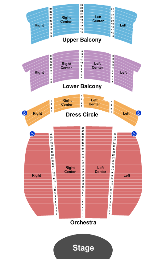 Orpheum Theatre - Vancouver Seating Chart