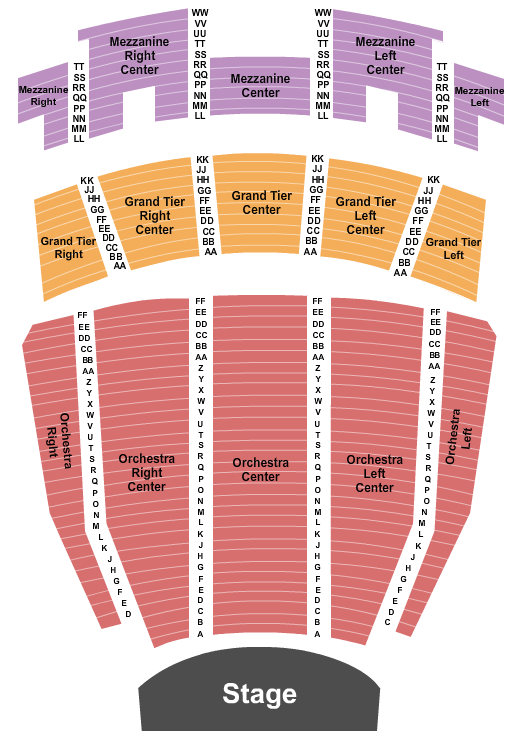 Ovens Auditorium Seating Chart Plan