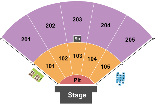 Ozarks Amphitheater - Missouri Seating Chart