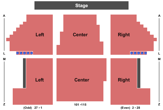 PAC at Buffalo State College Floor Plan
