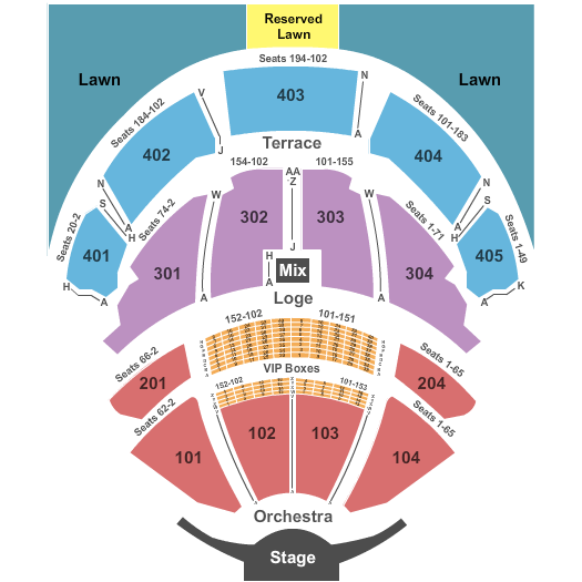 PNC Bank Arts Center seating chart event tickets center