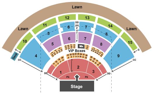 PNC Music Pavilion - Charlotte Floor Plan