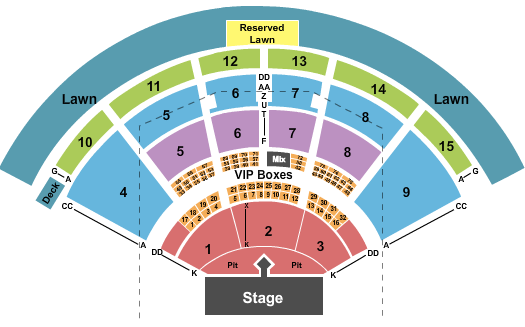 PNC Music Pavilion - Charlotte seating chart event tickets center