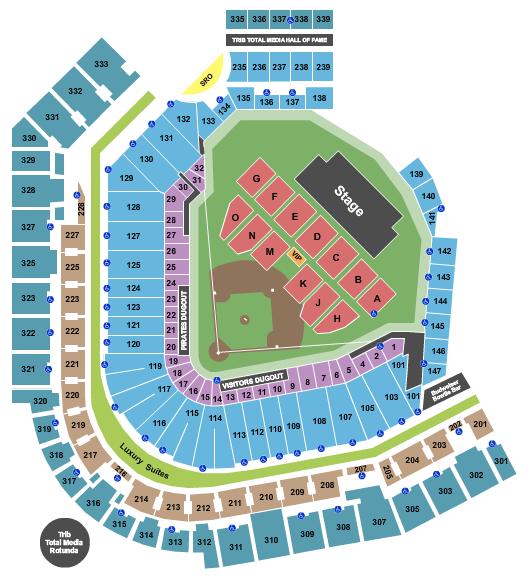 PNC Park Floor Plan