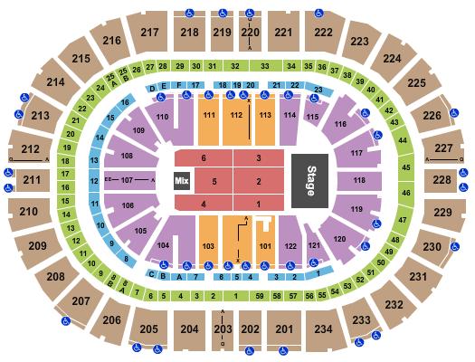 PPG Paints Arena Floor Plan
