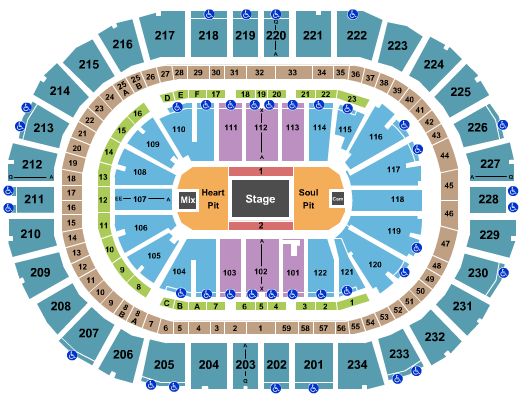 PPG Paints Arena seating chart event tickets center