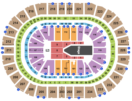 PPG Paints Arena Floor Plan
