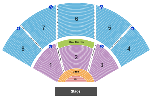 Pacific Amphitheatre Seating Map