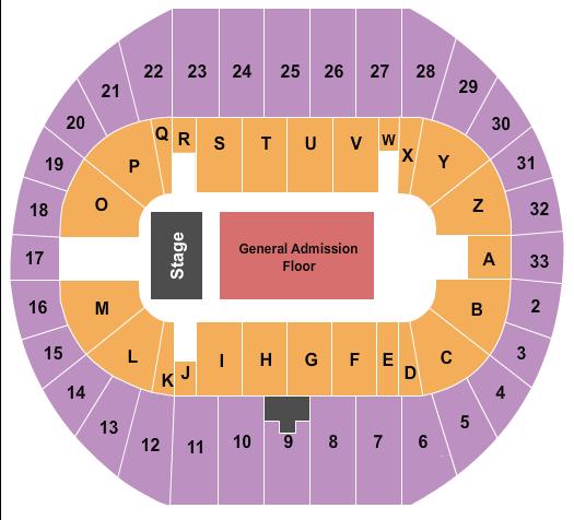 Pacific Coliseum Floor Plan