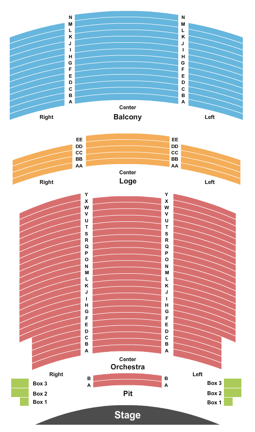 Palace Theatre - PA seating chart event tickets center