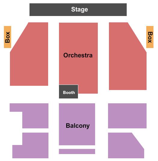 Palace Theatre - NH Seating Chart Plan