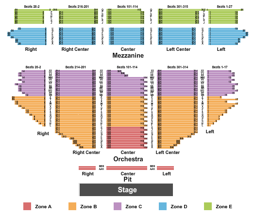 Hollywood Pantages Theatre - CA Seating Chart Plan