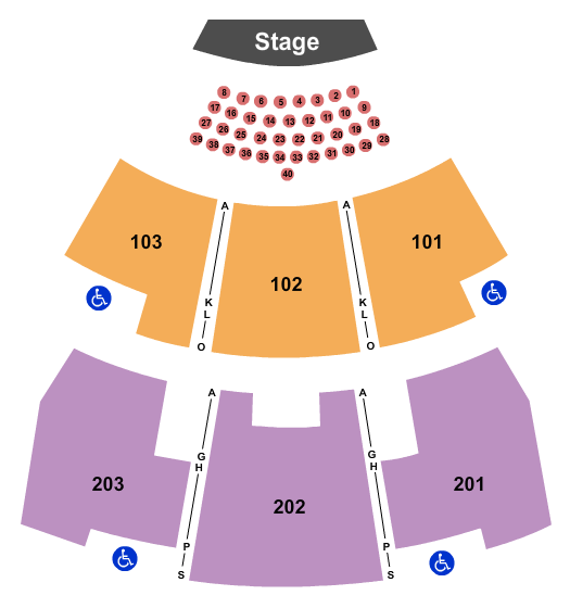 seating chart for Paradise Cove At River Spirit Ramon Ayala - eventticketscenter.com