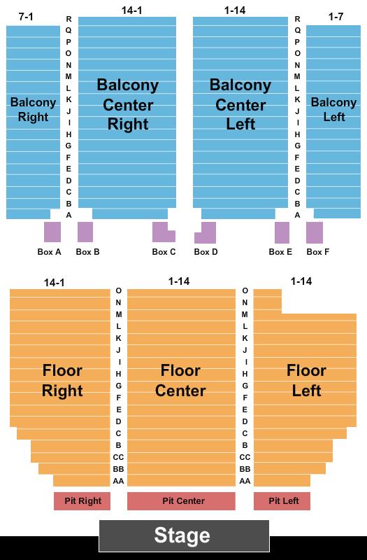 Paramount Arts Center Floor Plan