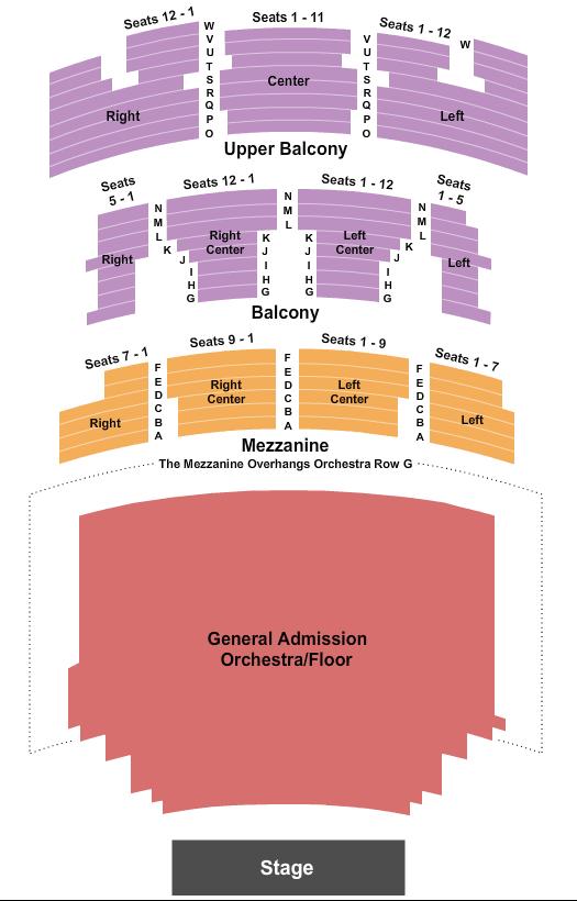 Conan O'Brien Paramount Theatre - Austin, TX Seating Chart