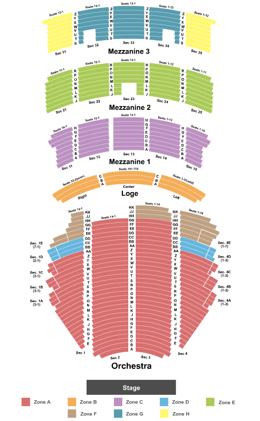 Paramount Theatre - Seattle seating chart event tickets center