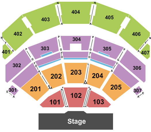 Park Theater at Park MGM Floor Plan
