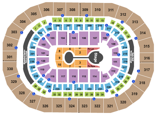 Paycom Center seating chart event tickets center