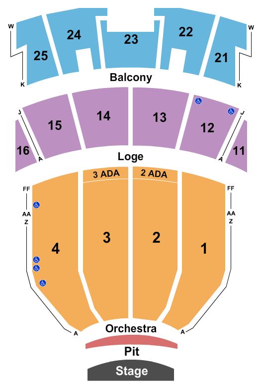 Peabody Auditorium Floor Plan
