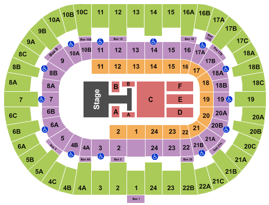 Pechanga Arena - San Diego Floor Plan