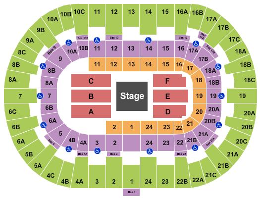 Pechanga Arena - San Diego Floor Plan