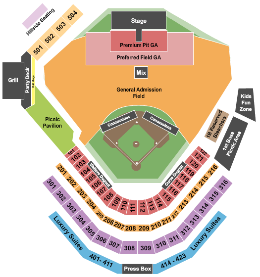 Peoples Natural Gas Field Seating Chart