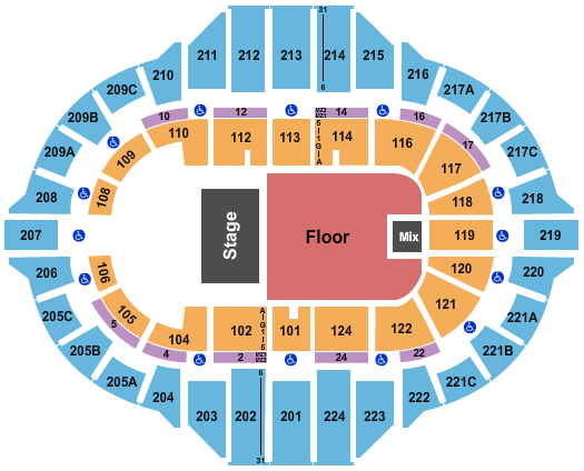 Peoria Civic Center - Arena seating chart event tickets center