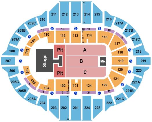 Peoria Civic Center - Arena Floor Plan